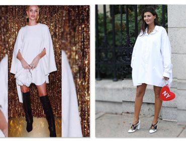 Nova tendência entre celebs e it girls: uma boa camisa branca e nada mais… Como assim?