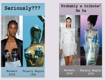 Babado forte no universo fashion: Thierry Mugler acusa Balmain de plágio. Às provas!