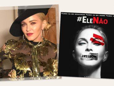 Madonnaé a mais nova celeb internacional a aderir à campanha do#EleNão