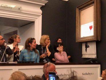 Quadro de Banksy destruído em leilão poderá voltar ao mercado em breve valendo quase R$ 25 mi