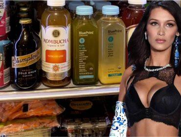 Corpão explicado: Bella Hadid mostra no Insta os alimentos saudáveis que mantém na geladeira