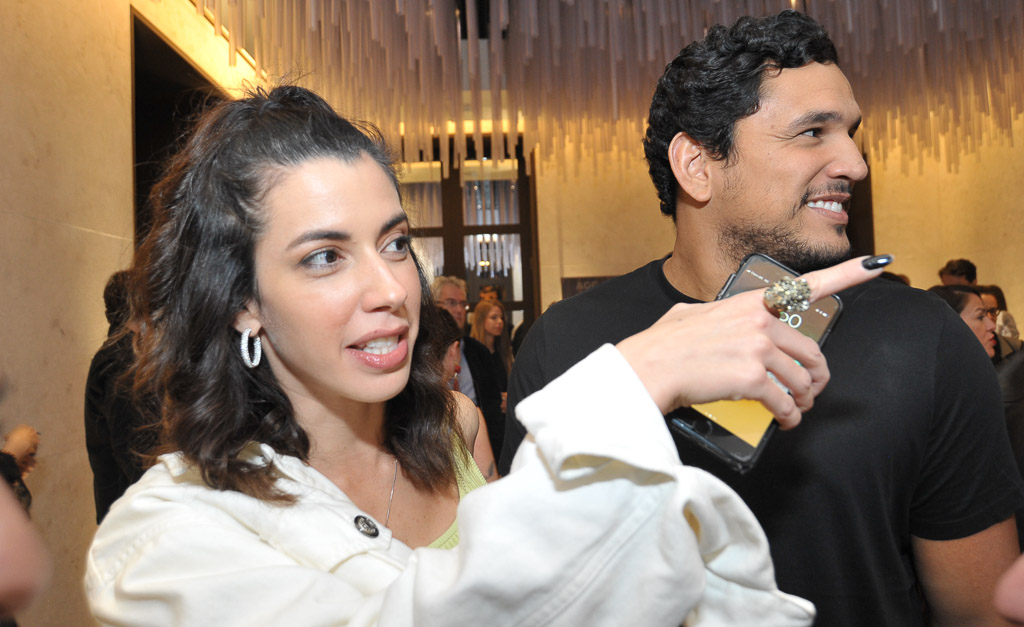 e1691812a Camila Coutinho e Marco Moura na festa de 12 anos da Revista J.P ||  Créditos: Paulo Freitas