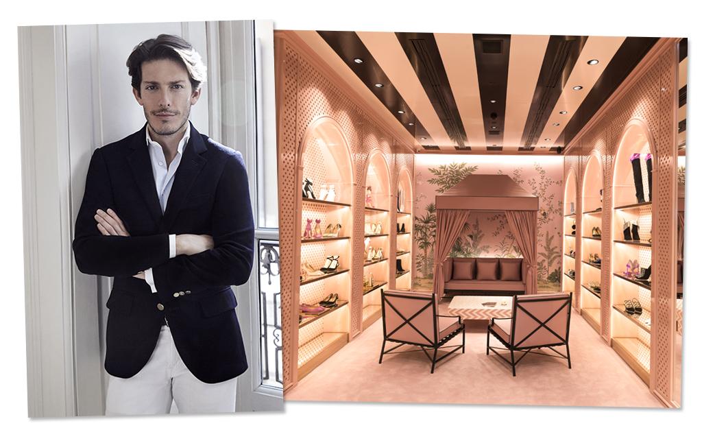 e1f43682116 O designer de sapatos Edgardo Osorio e a atmosfera da loja Aquazzura no  Shopping Cidade Jardim