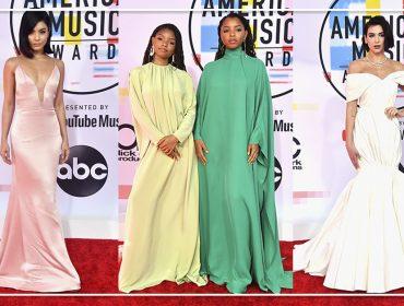 Cortes retos e maximalismo dividem espaço no red carpet do American Music Awards