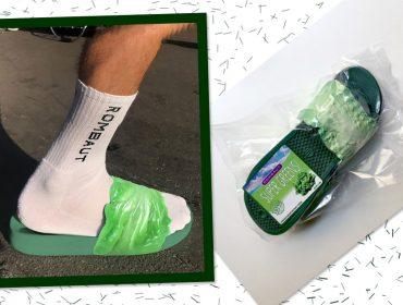 a324c7400f Marca de calçados veganos lança slide de alface e repolho roxo