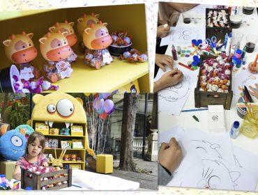 Turminha pintou o sete na oficina que a Cacau Show armou no Piquenique Glamurama