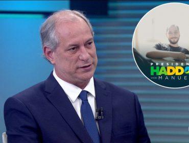 Há dois dias do segundo turno, filho de Ciro Gomes declara apoio a Haddad nas redes sociais