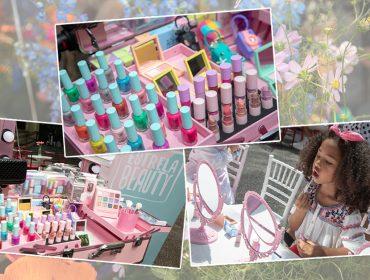 EstrelaBeauty apresenta seu portfólio de makes e acessórios infantis no Piquenique Glamurama