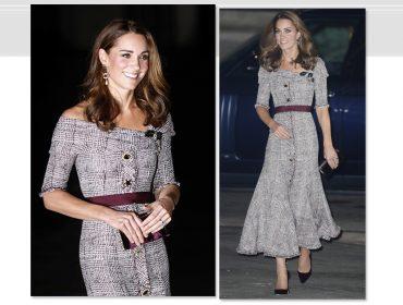 Kate Middleton homenageia a Rainha e segue passos de Meghan Markle ao colocar os ombros para jogo