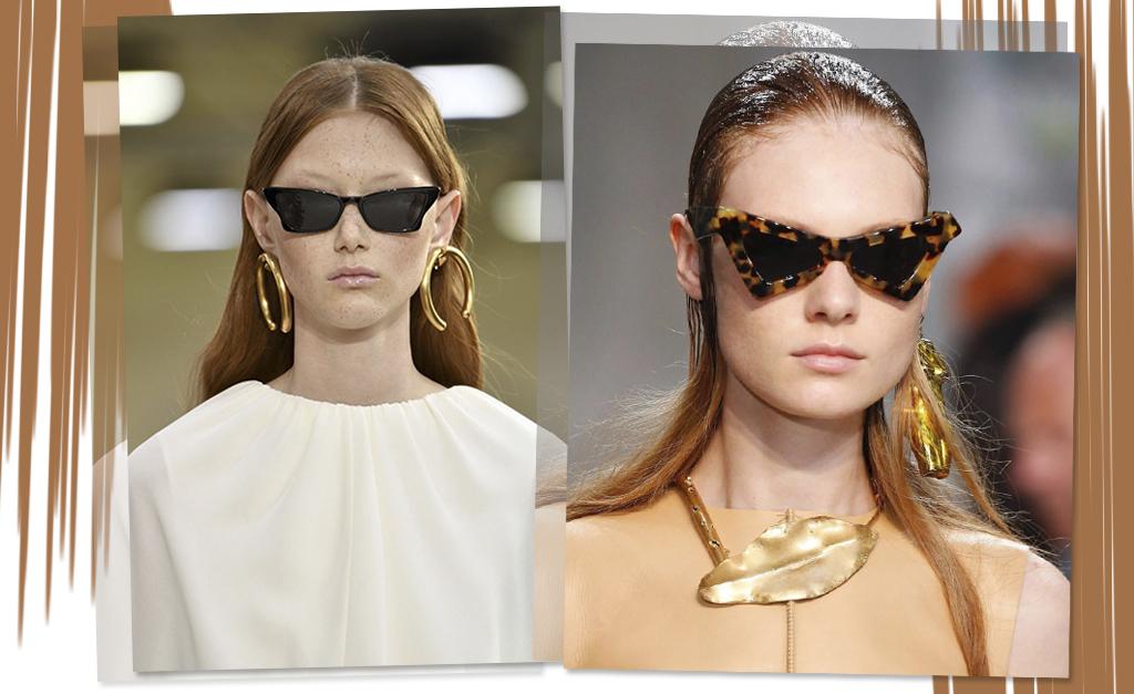 79265040223d0 À esquerda, óculos Valentino, e à direita, modelo da Marni    Créditos   Getty Images