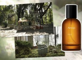 Cheiro de orvalho típico de quem caminha por uma floresta no novo perfume da hypada Aesop