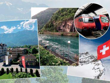 J.P embarcou em uma viagem incrível para conhecer a Suíça como só os suíços fazem: de trem
