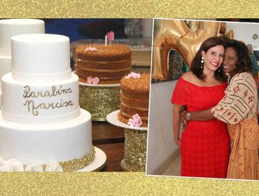 Aniversário de Narcisa Tamborindeguy contou com palinha de Glória Maria