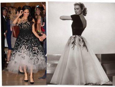 Meghan Markle usa vestido de gala e é comparada a Grace Kelly. Concorda?