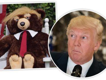 """Lançado em 2017, urso de pelúcia batizado com o nome de Trump reaparece em comercial da """"Fox News"""""""