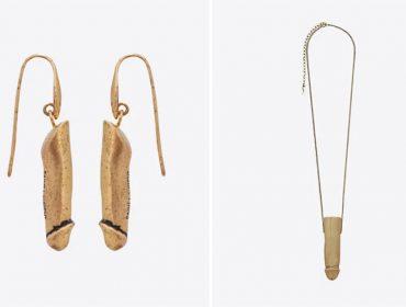 Brincos e colares com pingentes em forma de pênis lançados pela Saint Laurent Paris estão vendendo como água