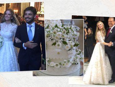 Maria Beatriz Gouvea Vieira eChristian Telles se casam em cerimônia luxuosa no Rio