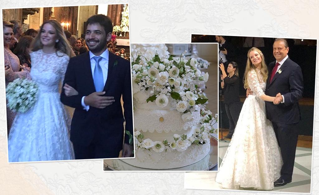 0777c4225e5 Maria Beatriz Gouvea Vieira e Christian Telles se casam em cerimônia ...