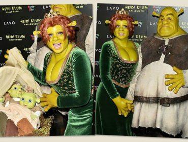 Para 19ª edição de seu concorrido Halloween, Heidi Klum encara horas de maquiagem para virar… Fiona