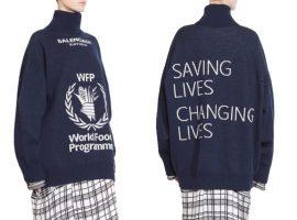 Desejo do Dia: tricô Balenciaga que apoia campanha de combate à fome no mundo
