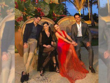 Enzo Celulari, Victoria Grendene, Marina Ruy Barbosa e Xande Negrão lacram em casamento na Bahia