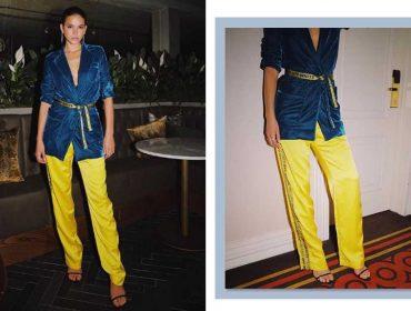 Bruna Marquezine usa look amarelo e azul e internet não perdoa: Correios ou Posto Ipiranga?
