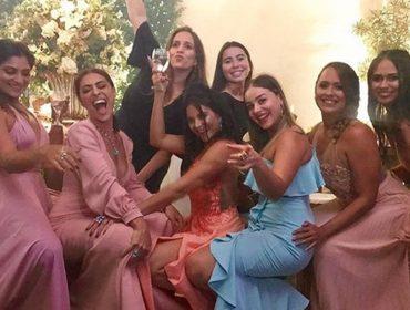 Juliana Paes dança funk até o chão em casamento de irmão mais novo, em Niterói