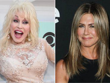 Dolly Parton revela fantasia sexual de seu marido com Jennifer Aniston, e a atriz cai na gargalhada