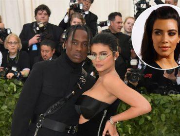 """Kim Kardashian sobre a relação de Kylie e Travis Scott: """"Não sei dizer se minha irmã casou com ele"""""""