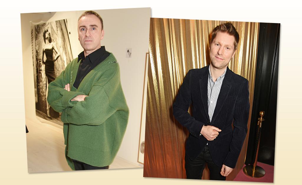 77d2cea1ff13e Os estilistas Raf Simons, à esquerda, e Christopher Bailey    Créditos   Getty Images