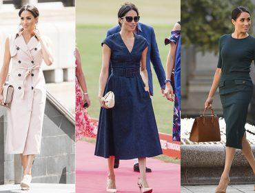 Os looks de Meghan Markle que lhe renderam o título de mulher mais charmosa da realeza em 2018