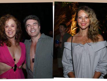 Claudia Raia e Paolla Oliveira entram no clima praiano e apostam em cabelos 'ao natural' na noite de Trancoso