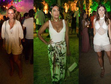 O que vestiram as glamurettes na concorrida festa Saravá, em Trancoso