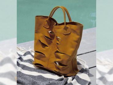 Desejo do Dia: bolsa de couro feita por Mark Inglis para o Uxua Casa Hotel, em Trancoso
