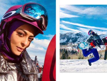 Juliana Paes se aventura nos esportes radicais durante viagem congelante ao lado do marido