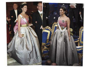 Princesa Victoria da Suécia recicla vestido usado pela mãe há mais de 20 anos… e arrasa
