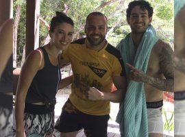 Rebeca Abravanel e Pato: romance, treinos pesados, sombra e água fresca em Trancoso