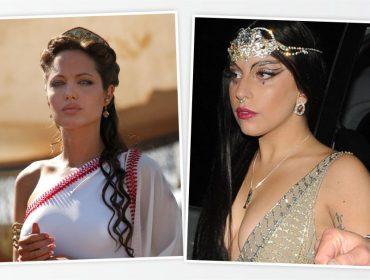 Angelina Jolie e Lady Gaga duelam pela chance de estrelar remake de Cleópatra. Aos fatos!