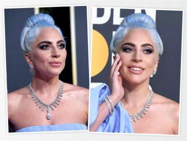 Lady Gaga exibiu mais de R$ 20 mi em jóias no Globo de Ouro deste domingo. Vem saber!
