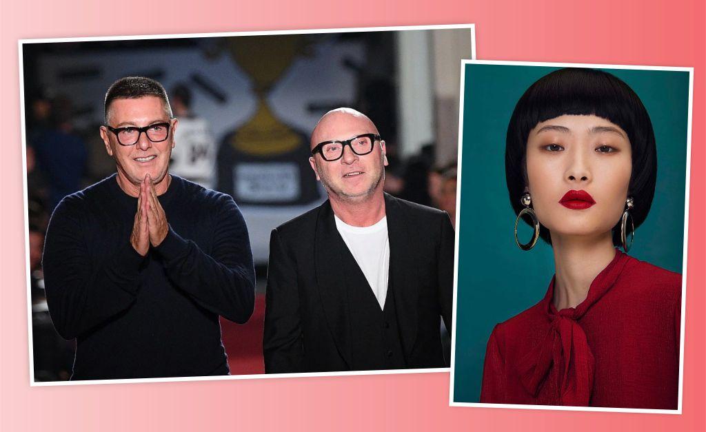 7eeeb3101c43d Os sócios na D G Stefano Gabbana e Domenico Dolce, e a top Zuo Ye     Créditos  Getty Images Reprodução