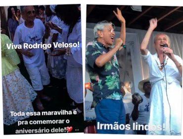 Caetano e Bethânia soltam a voz para comemorar aniversário do irmão Rodrigo Veloso