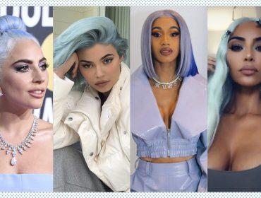 Depois do cabelo pink lemonade, a tendência entre as celebs em 2019 é o azul