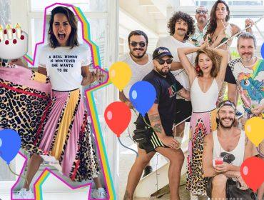 Leticia Colin comemora aniversário de29 anoscom festa animada e rodeada de amigos