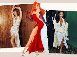 Marina Ruy Barbosa elege vestido usado por Rihanna e se compara a Jessica Rabbit