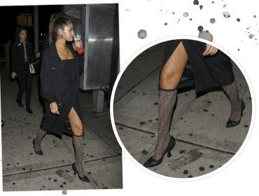 Meias statement: a tendência usada por Selena Gomez que veio para aparecer…