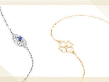 Desejo do Dia:pulseiras lucky charms de ouro e diamantes da Frattina