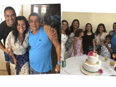 Zeca Pagodinho comemora 15 anos de sua filha com almoço fervidíssimo chez Regina Casé em Salvador