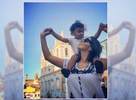 Brás, neto de Regina Casé, será batizado em igreja no Pelourinho. Aos detalhes!