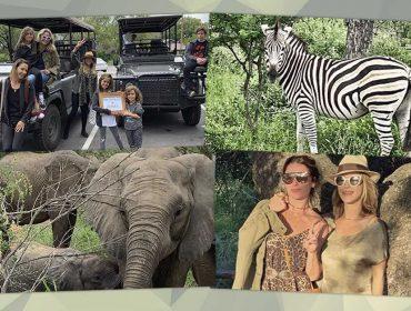 Giovanna Antonelli e Guilhermina Guinle se jogam em safári de luxo pela África do Sul
