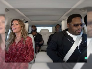 Gisele Bündchen solta a voz em episódio do 'Carpool Karaoke' ao lado do grupo Boyz II Men